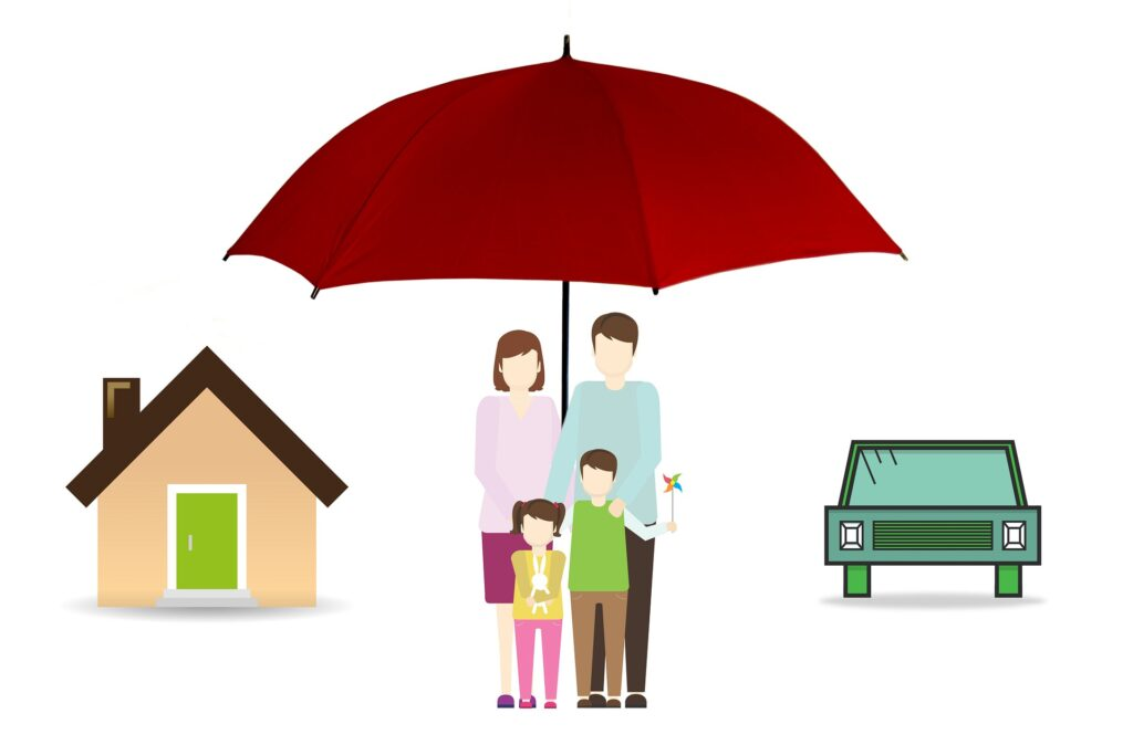 family protected under the umbrella of life insurance
